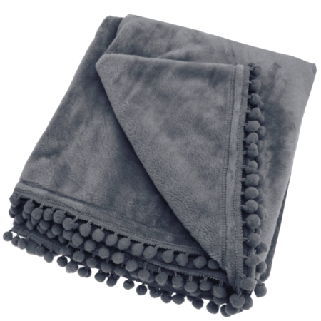 cashmere touch throw in charcoal