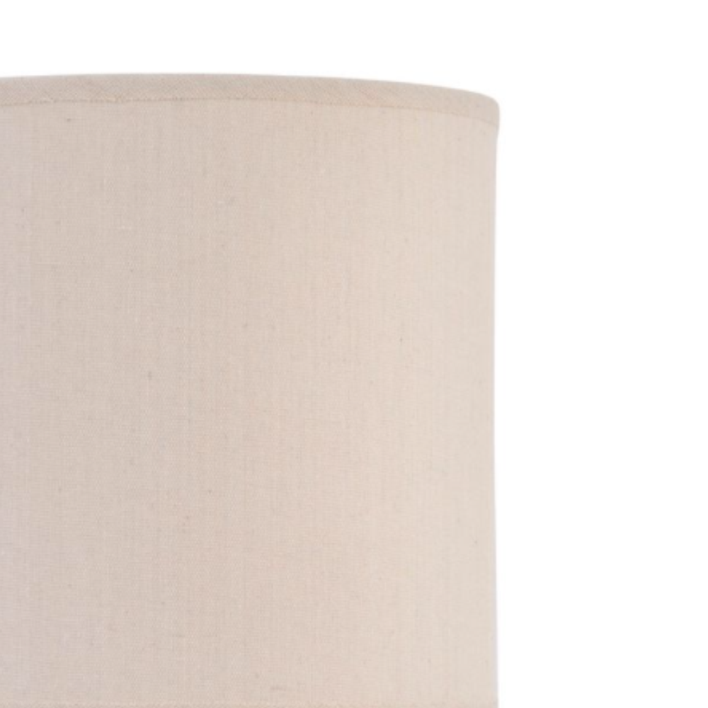 geo pattern porcelain table lamp with natural shade