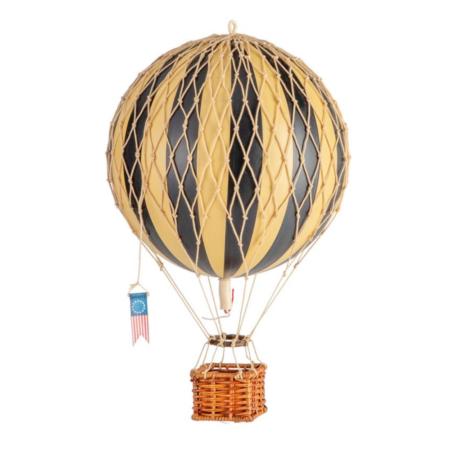 medium hot air balloon black