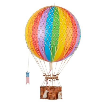 large hot air balloon rainbow