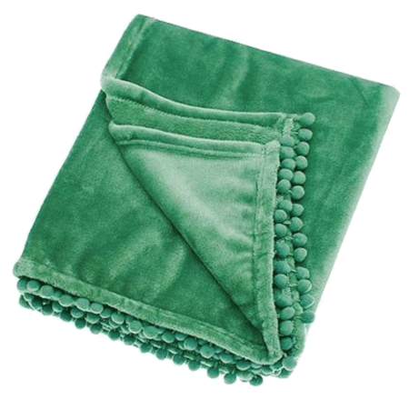 cashmere touch throw in spruce green