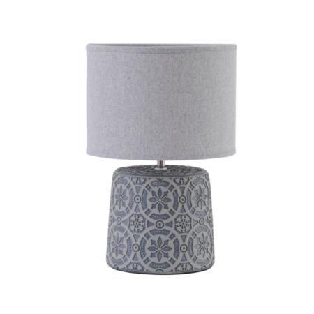 grey geo pattern table lamp