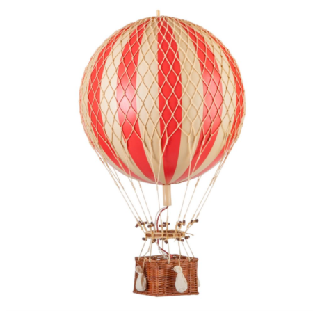 large red hot air balloon model