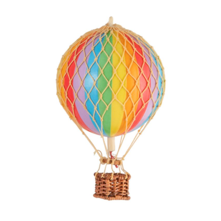 small hot air balloon rainbow