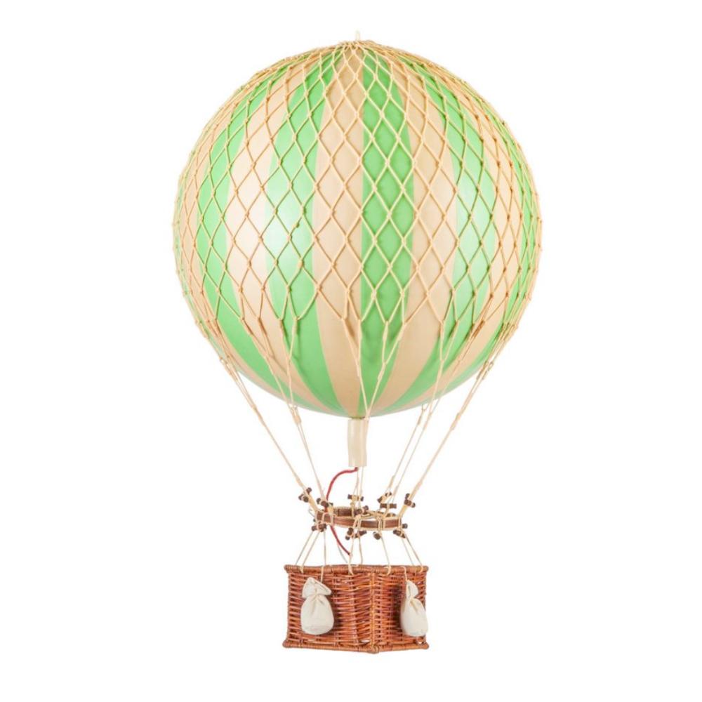 large hot air balloon green