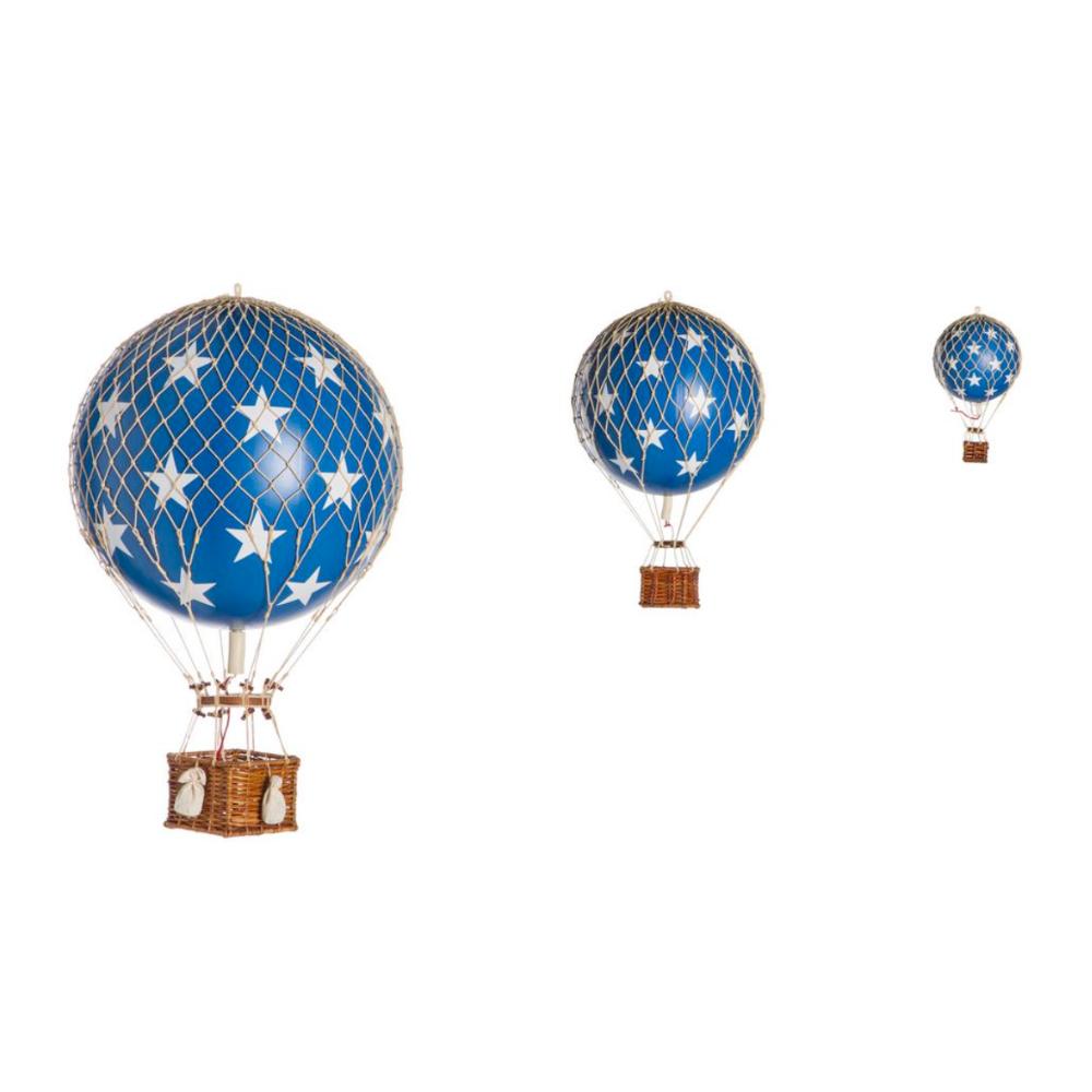 large hot air balloon blue stars