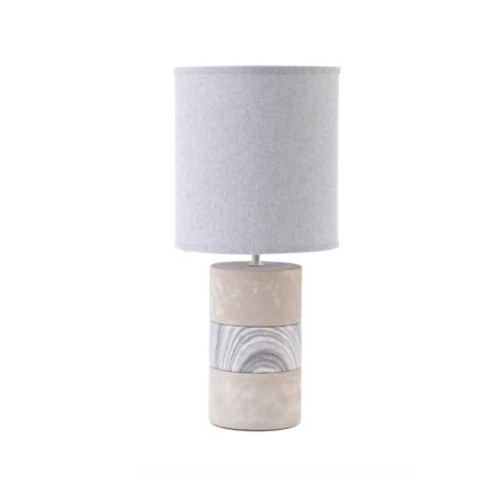 concrete porcelain table lamp