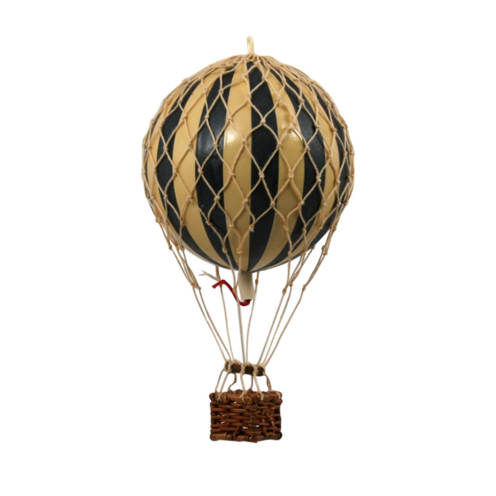 small hot air balloon model black