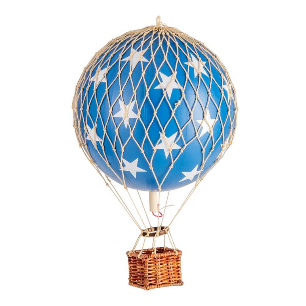 medium hot air balloon blue stars