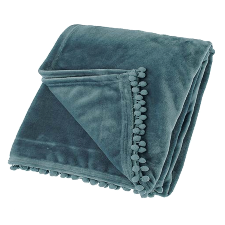cashmere touch throw mineral blue