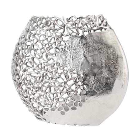 silver coral vase