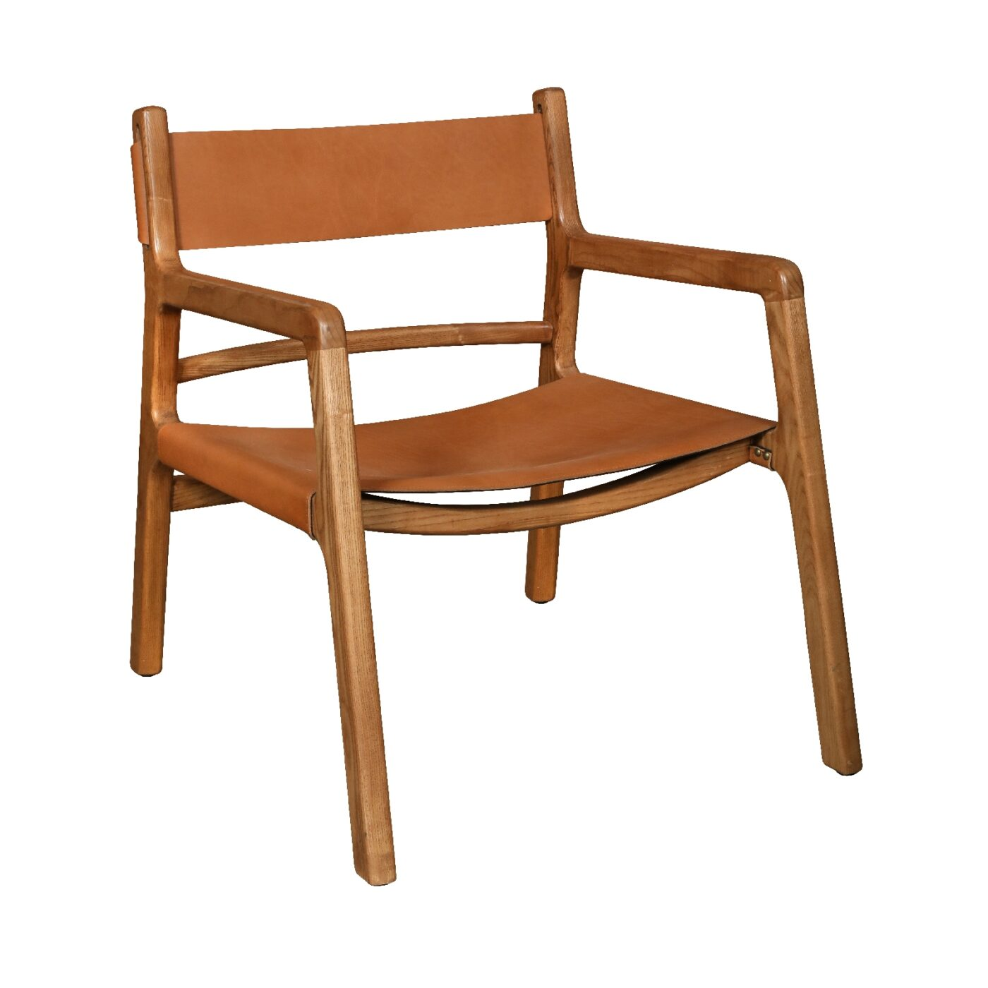 calne chair in saddle tan leather