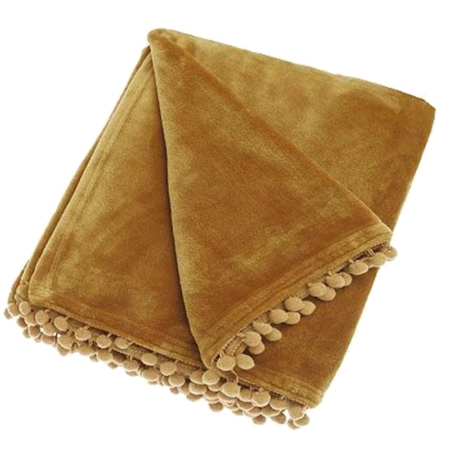 cashmere touch honey throw