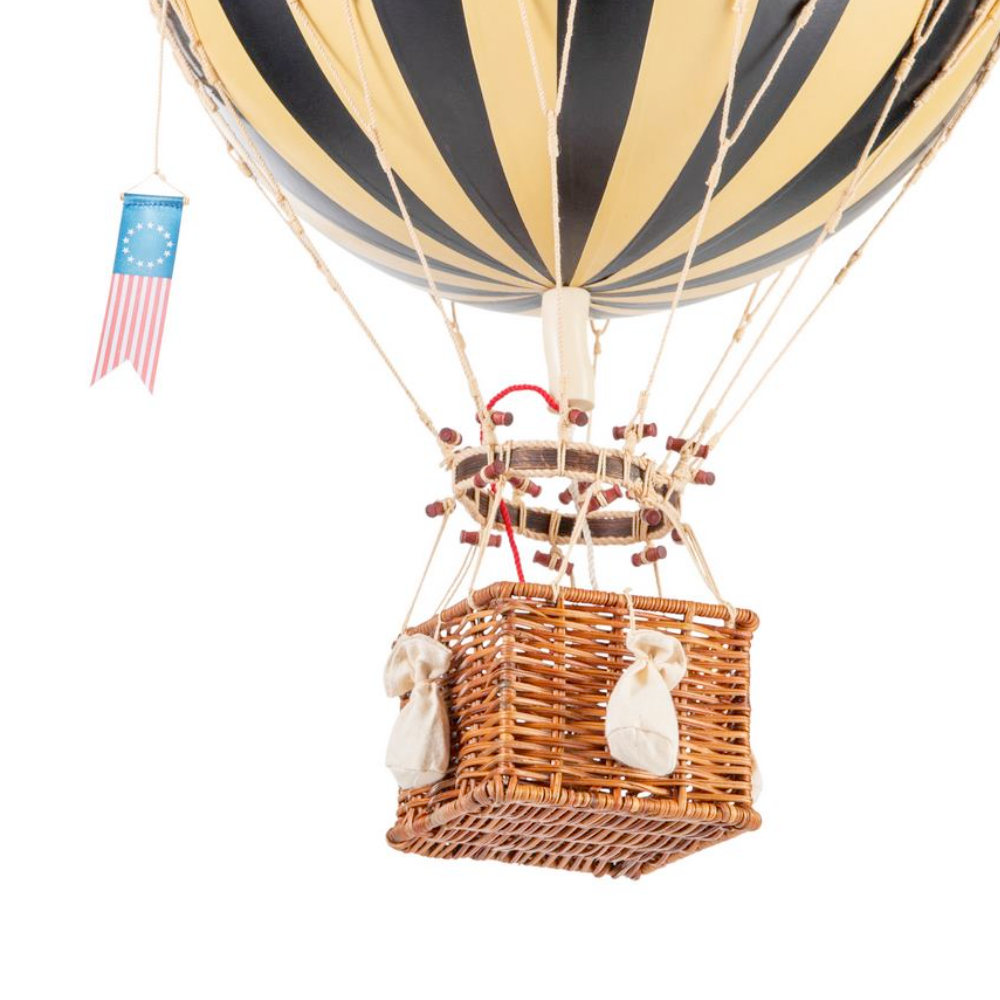 large hot air balloon black stripe