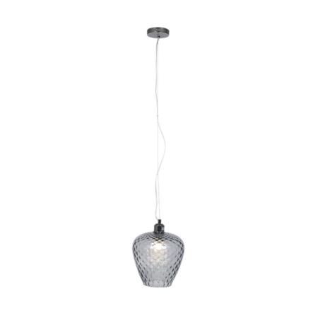 smokey grey glass pendant light
