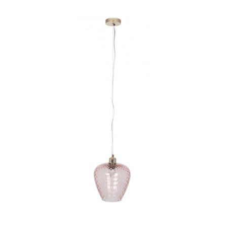 rose pink glass pendant light