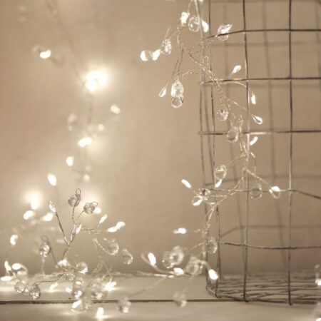 crystal cluster light chain