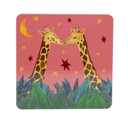 giraffe in the wild placemat