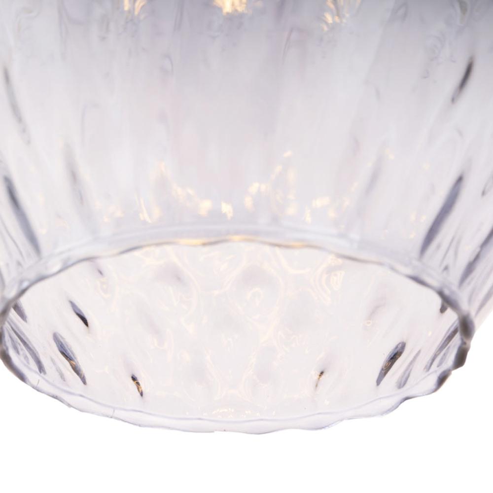 grey glass optic pendant light