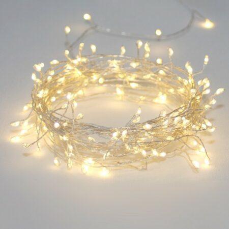silver cluster lights string
