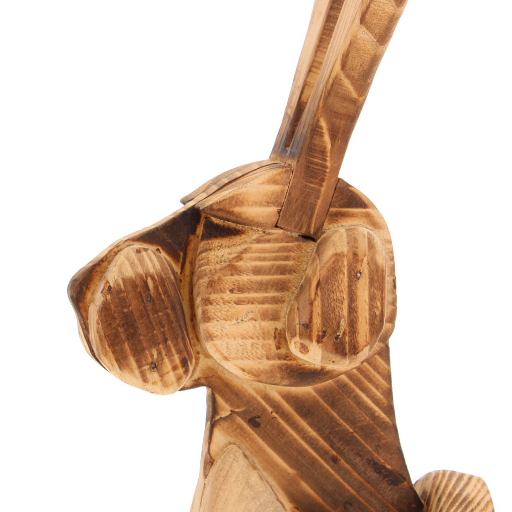 scorched wood Hare wall sculpture
