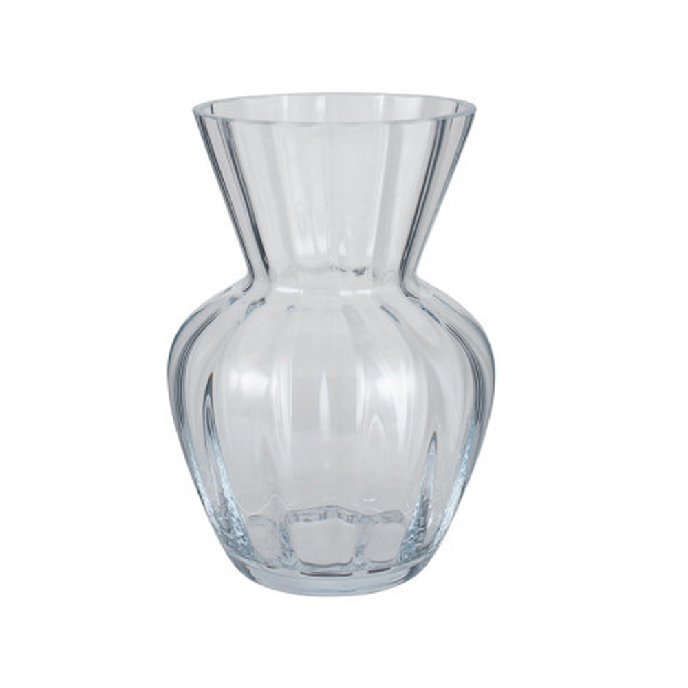 clear glass tara optic vase small