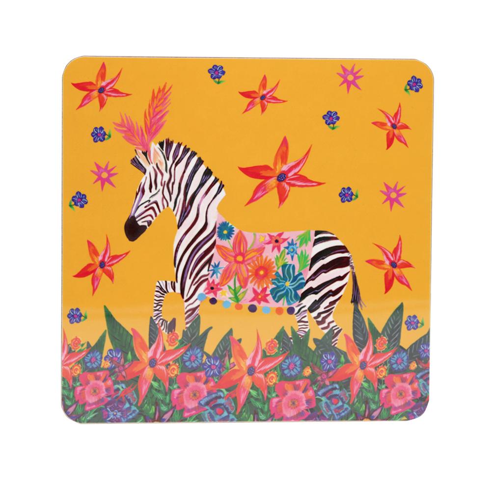 zebra in wild placemat