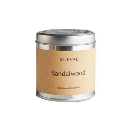 sandalwood tin candle