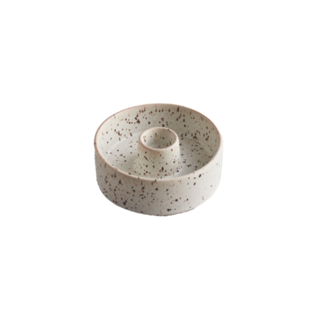 speckled stone candle plate